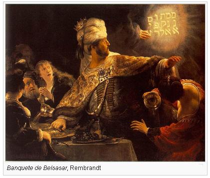 Banquete de Belsasar, Rembrandt.